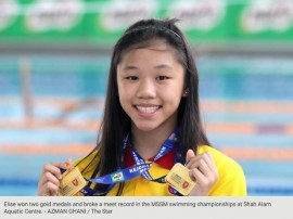 A perfect debut for Elise at MSSM swim meet