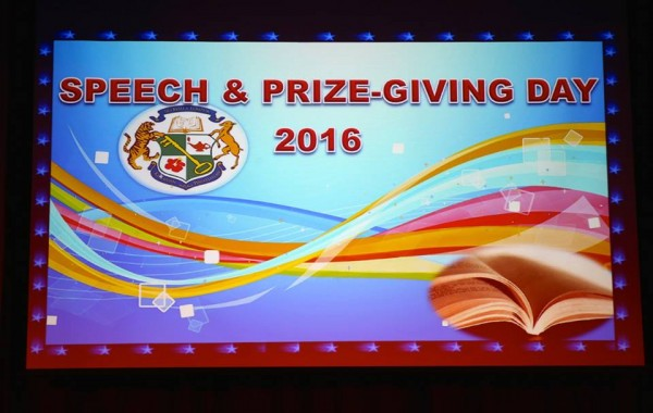 2016 Secondary Speech & Prize-Giving Day